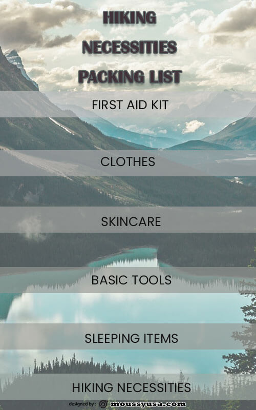 packing list template for photoshop