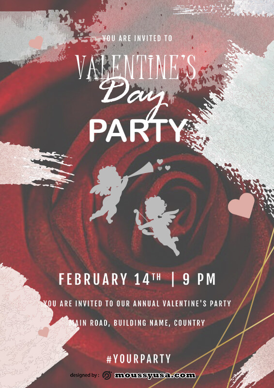 party invitation example psd design