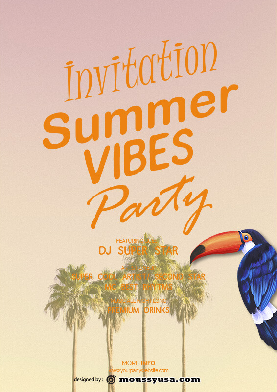 party invitation free download psd