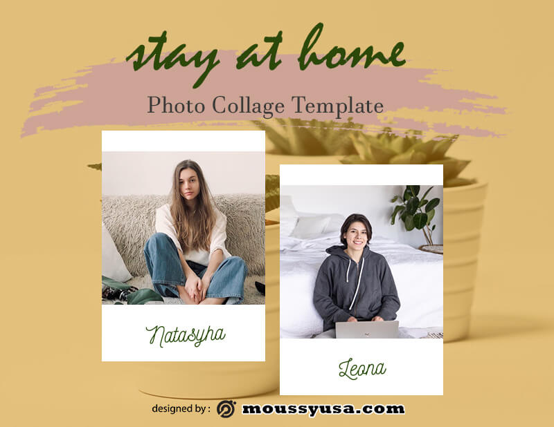photo collage customizable psd design template
