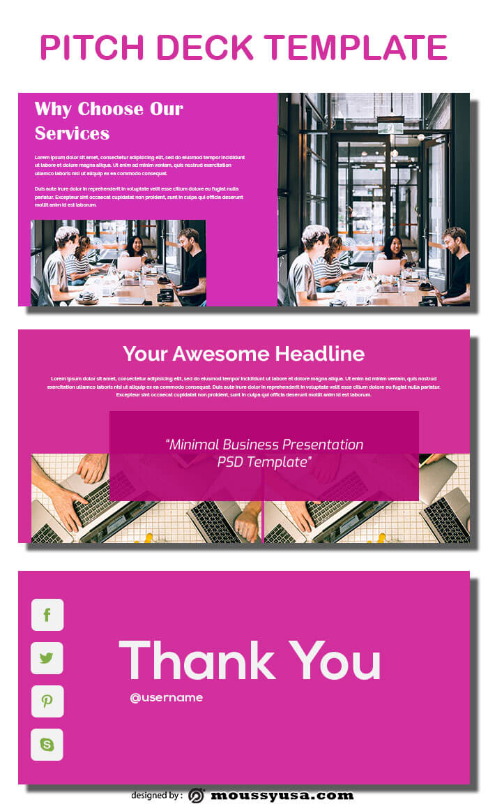 pitch deck in psd design