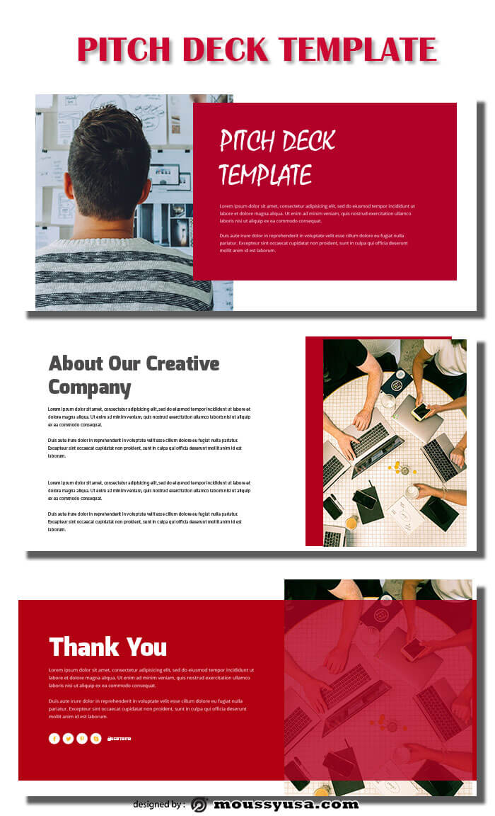 pitch deck psd template free