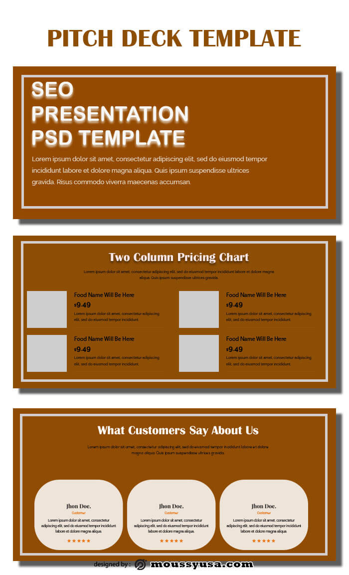 pitch deck template for photoshop