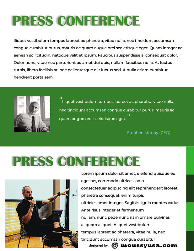 press kit template for photoshop
