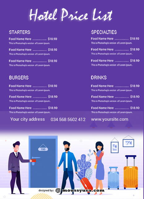 price list in photoshop free download