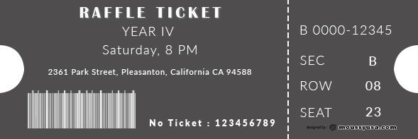 raffle ticket customizable psd design template