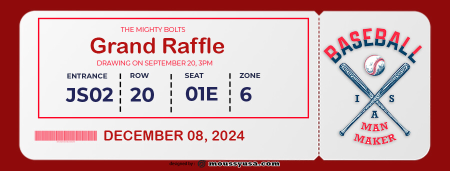 raffle ticket example psd design
