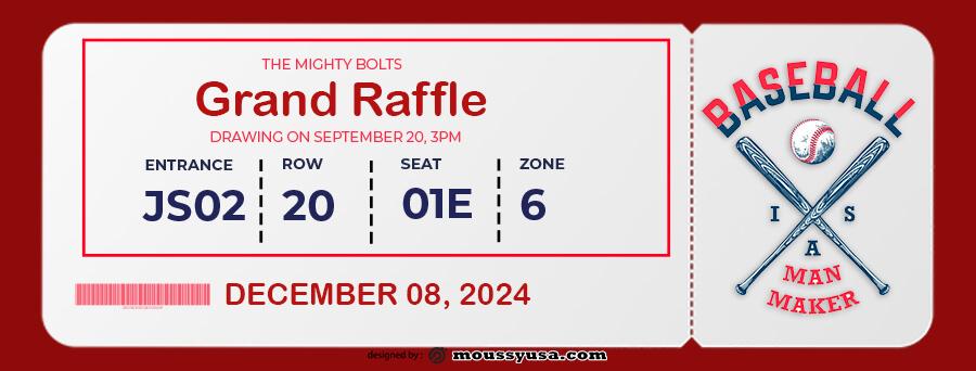 raffle ticket example psd design