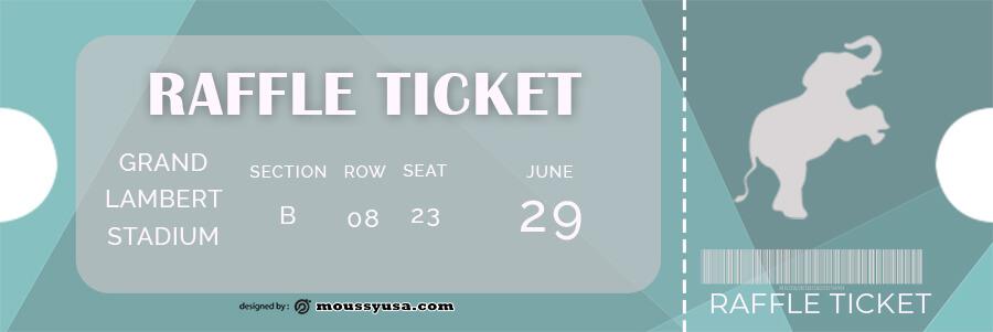 raffle ticket in photoshop