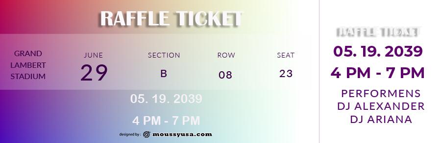raffle ticket in psd design