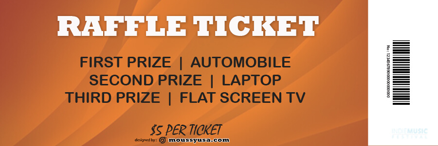 raffle ticket psd template free