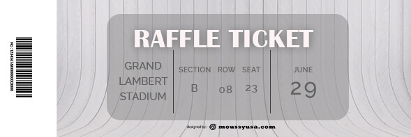 raffle ticket template for photoshop