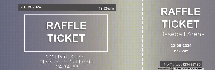 raffle ticket template free psd