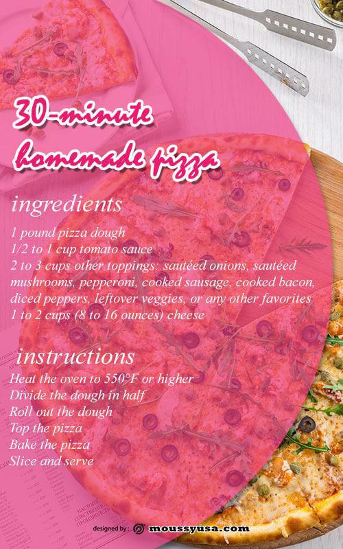 recipe card template free psd