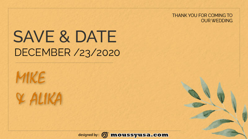 save the date example psd design