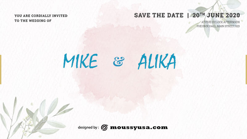 save the date template for photoshop