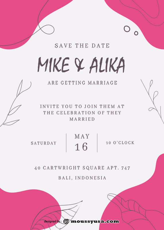 save the date template free psd