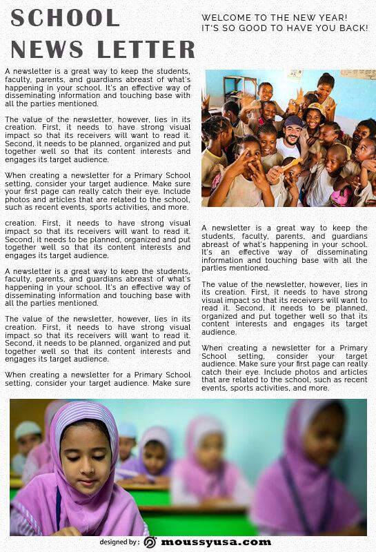 school newsletter in photoshop free download