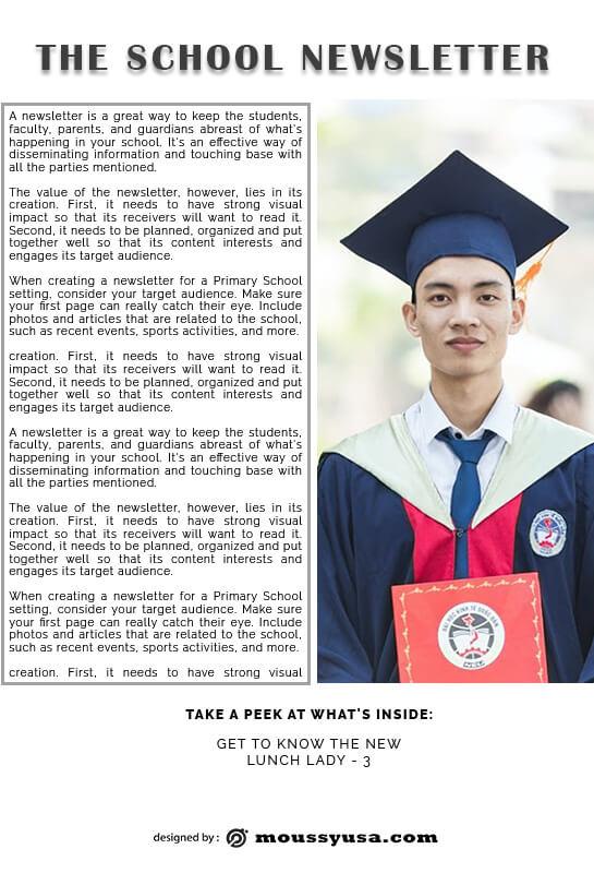 school newsletter in photoshop