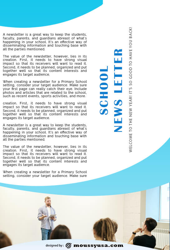 school newsletter template for photoshop
