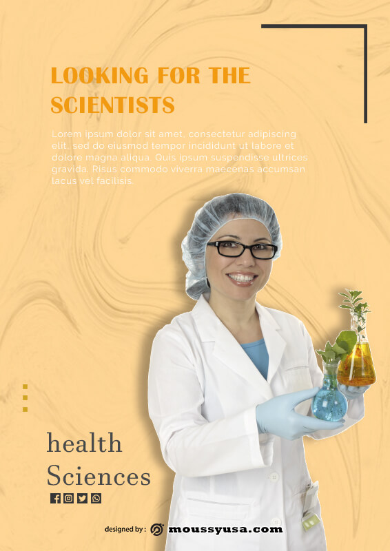 scientific poster free download psd
