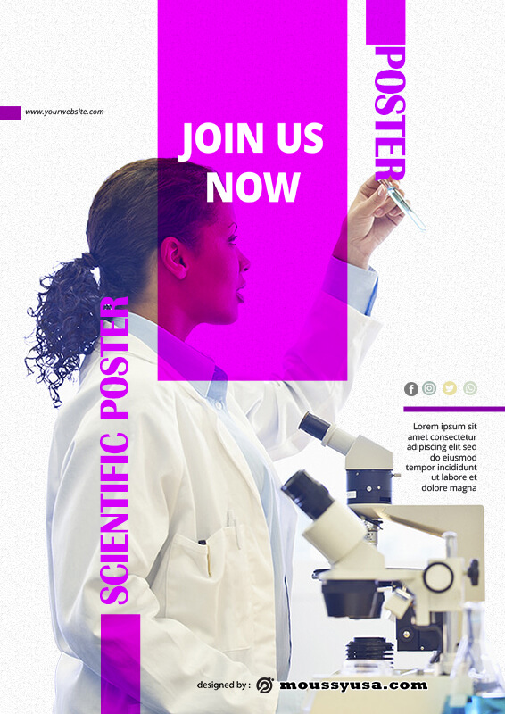 scientific poster template free psd