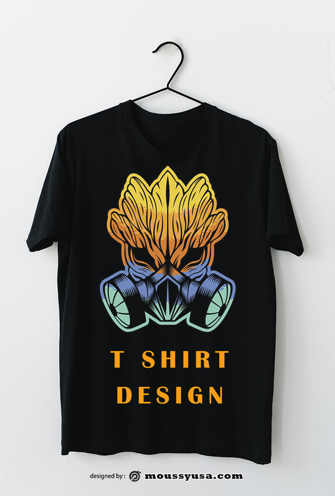 t shirt example psd design