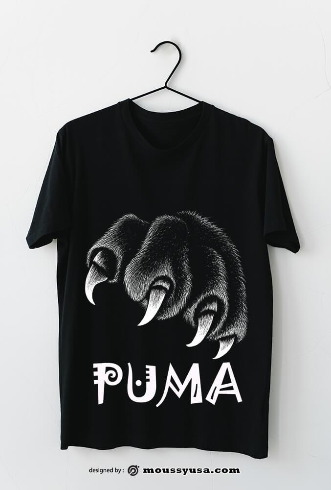 t shirt in psd design
