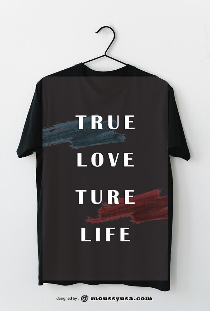 t shirt psd template free