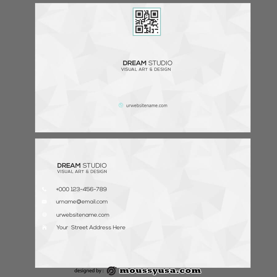 template for business cards customizable psd design template