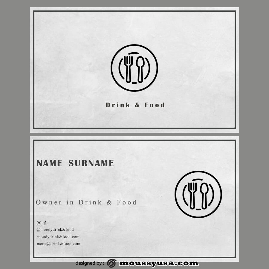template for business cards example psd design