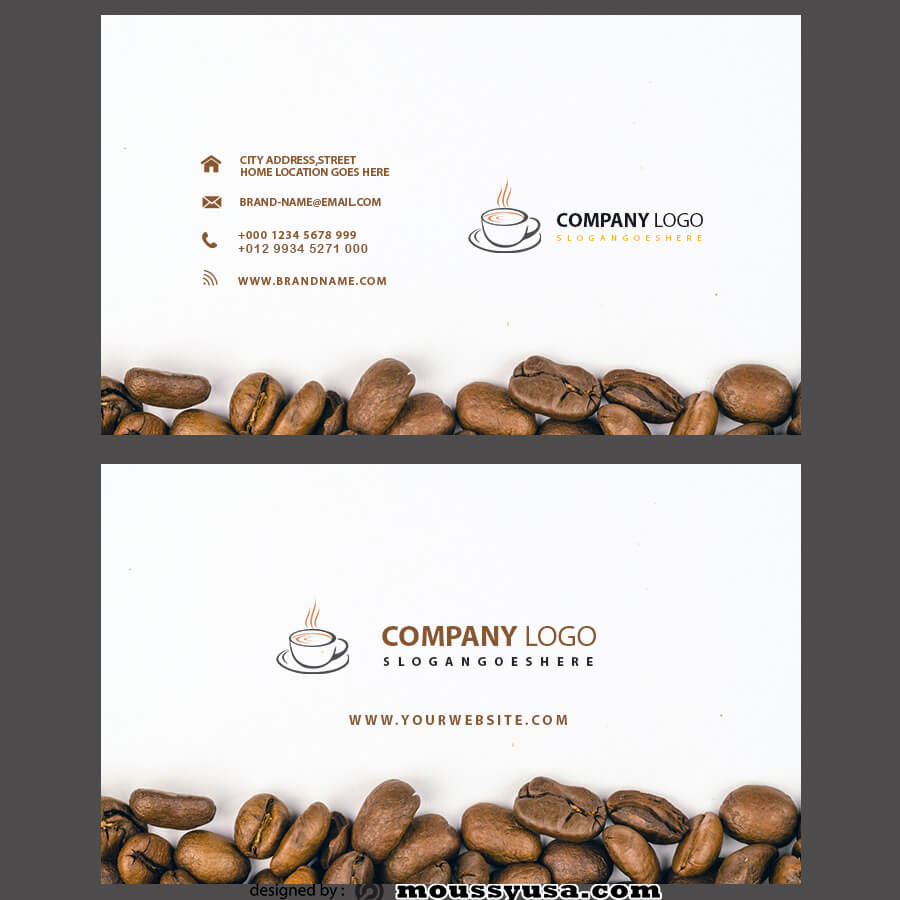 template for business cards free psd template