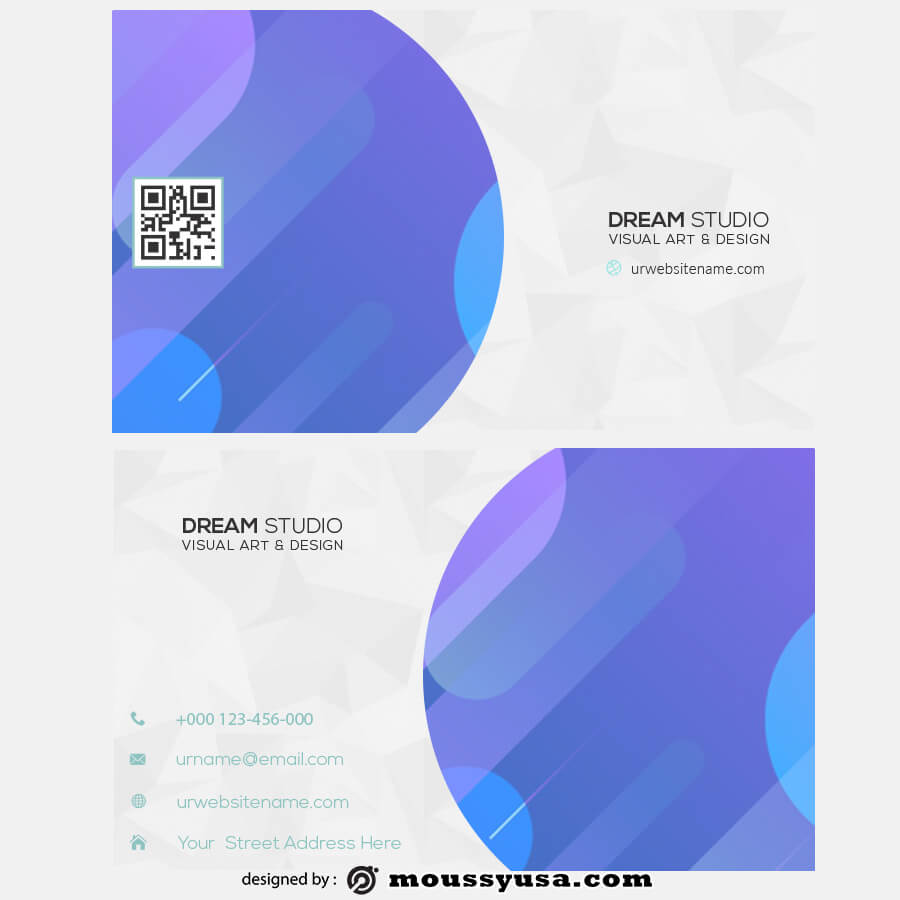 template for business cards in photoshop free download