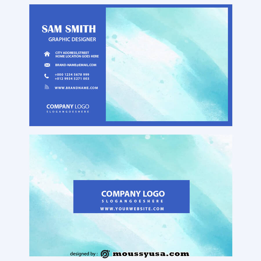 template for business cards in psd design