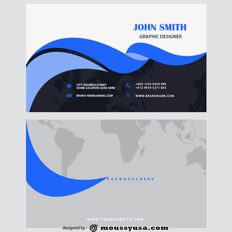 template for business cards psd template free