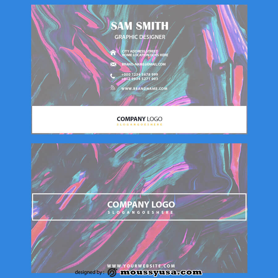 template for business cards template for photoshop