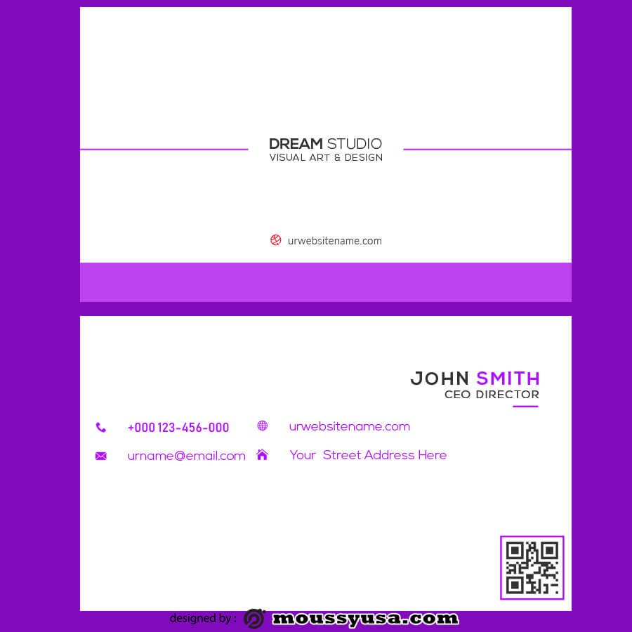 template for business cards template free psd