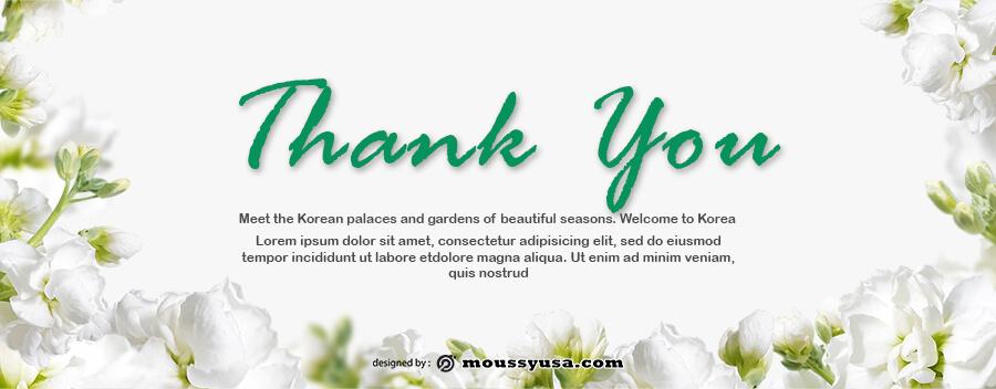 thank card example psd design