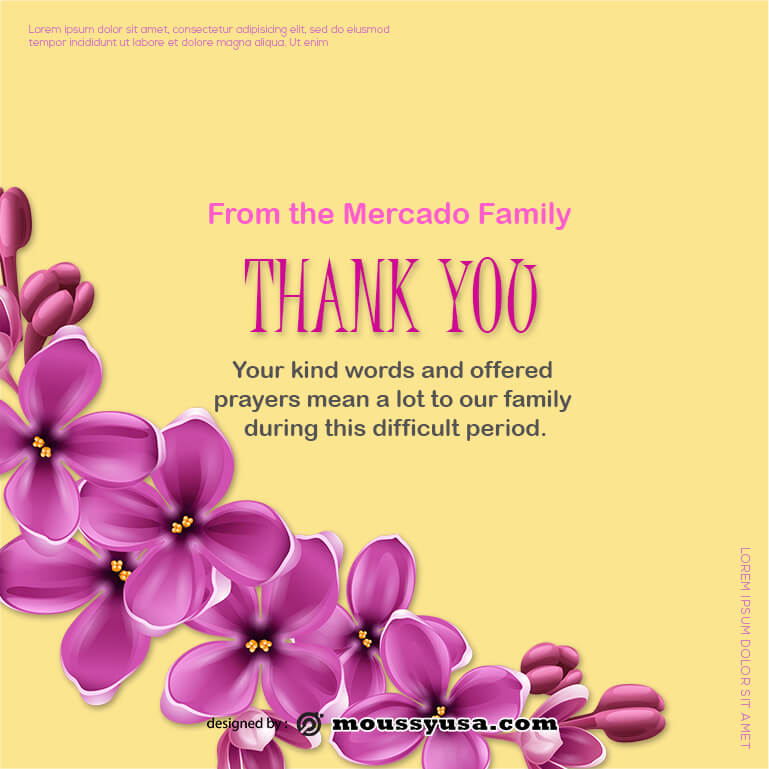 thank card free psd template