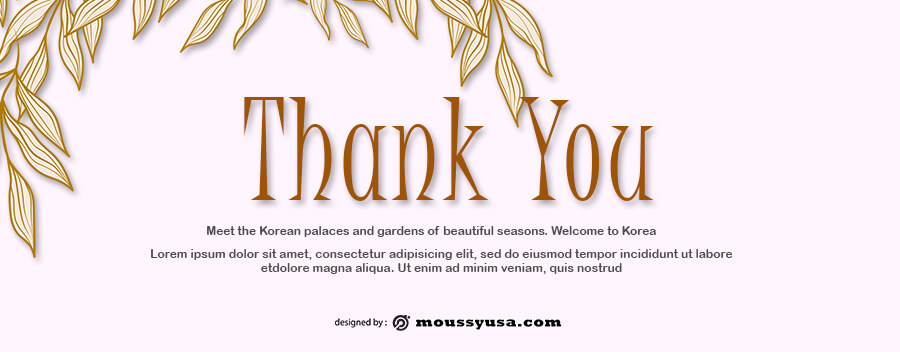 thank card in photoshop