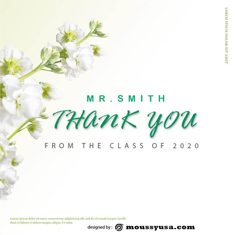 thank card in psd design