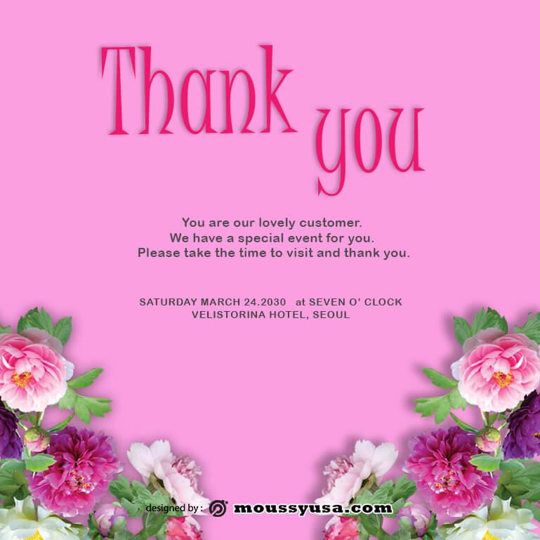 thank card template free psd