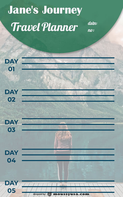 travel itinerary free psd template
