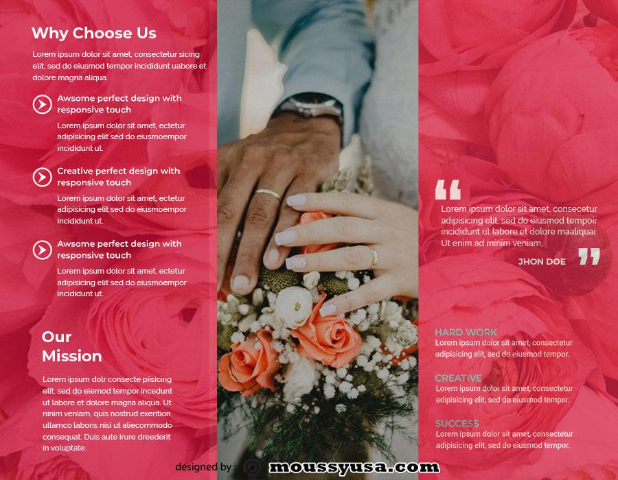 tri fold brochure free download psd