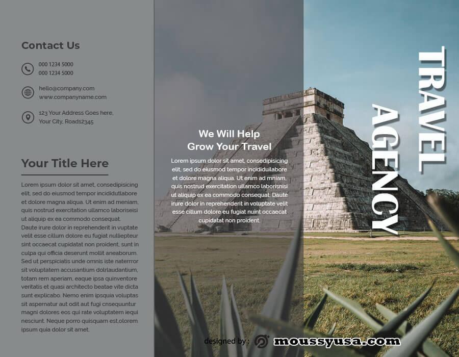 tri fold brochure free psd template