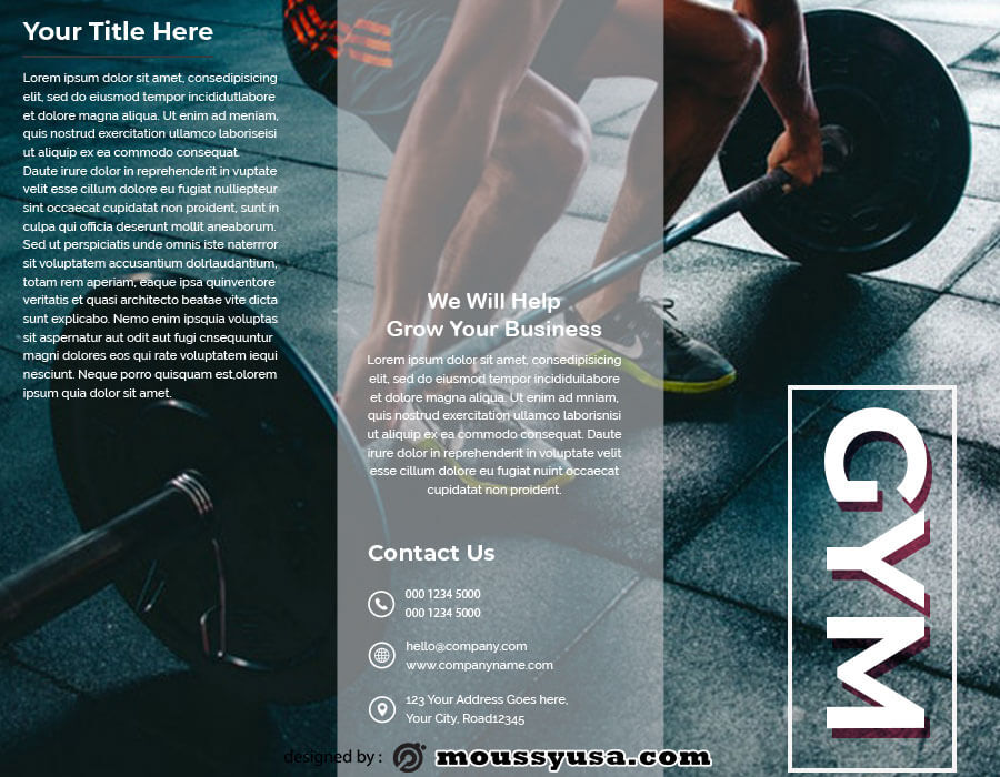 tri fold brochure in photoshop free download