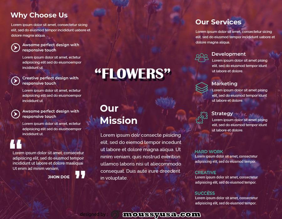 tri fold brochure in psd design