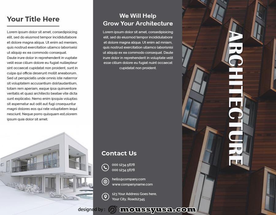 tri fold brochure psd template free