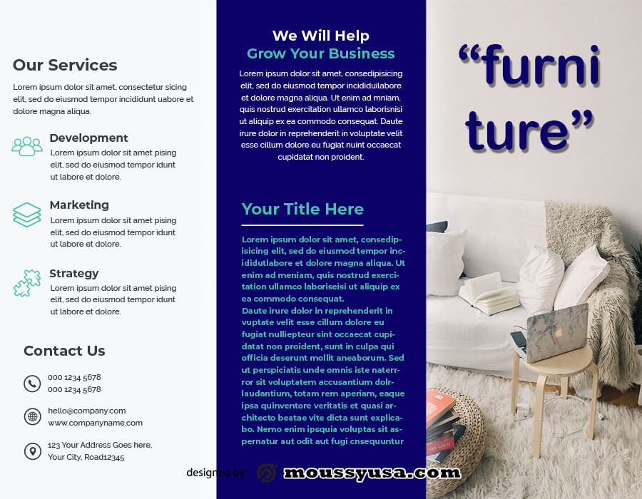 tri fold brochure template for photoshop