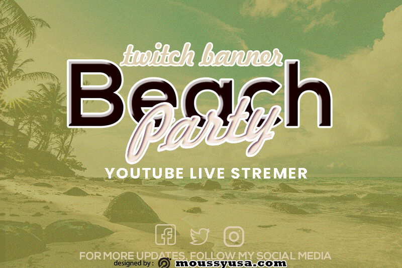 twitch banner free psd template